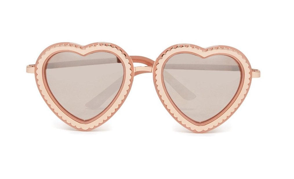 73fa8290a Ban.do Rose Gold Scalloped Heart Sunglasses | Best Summer Products ...