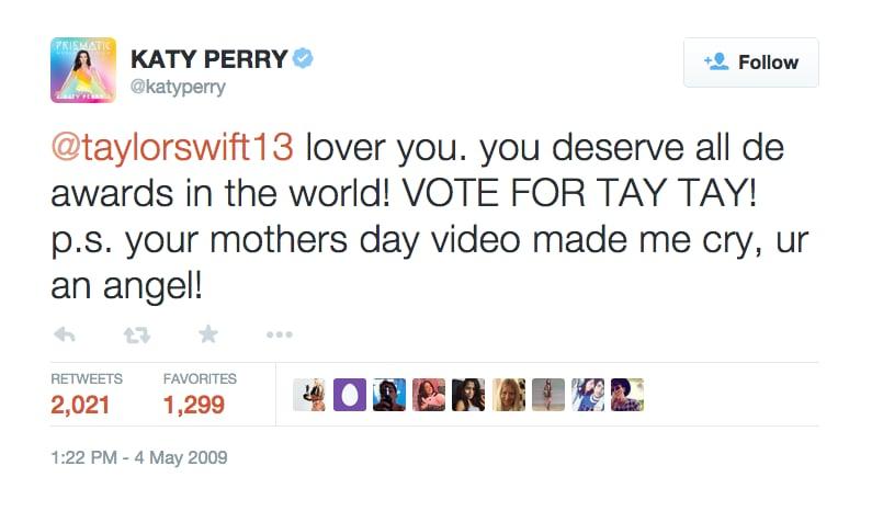 May 4, 2009: Katy Tweets at Taylor