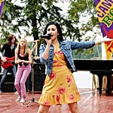 Demi Lovato in Camp Rock (2008) and Camp Rock: The Final Jam (2010)