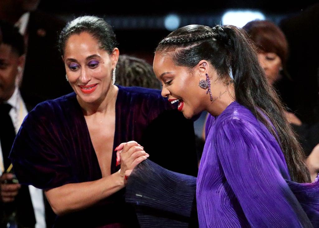 Tracee Ellis Ross and Rihanna at the 2020 NAACP Image Awards
