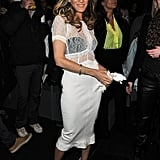 Sarah Jessica Parker posed at the Louis Vuitton show in March 2012.