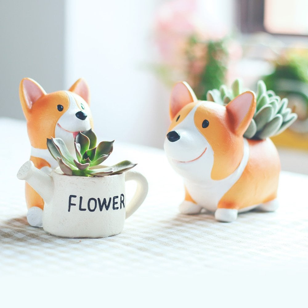 Anpatio Mini Resin Animal Plant Pot