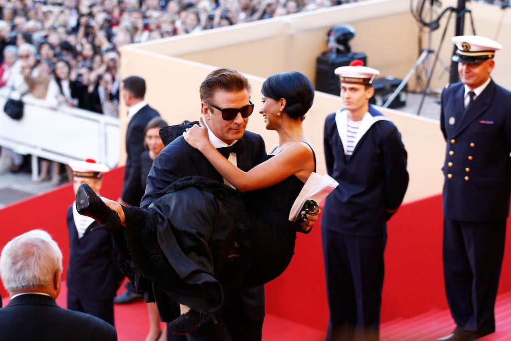Alec Baldwin carried fiancée Hilaria Thomas up the steps at the opening of the Cannes Film Festival and the premiere of Moonrise Kingdom.