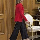 Queen Letizia Wearing Culottes Spring 2016