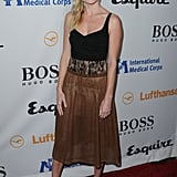 At the same party, Kate Bosworth also wore a mid-length frock.