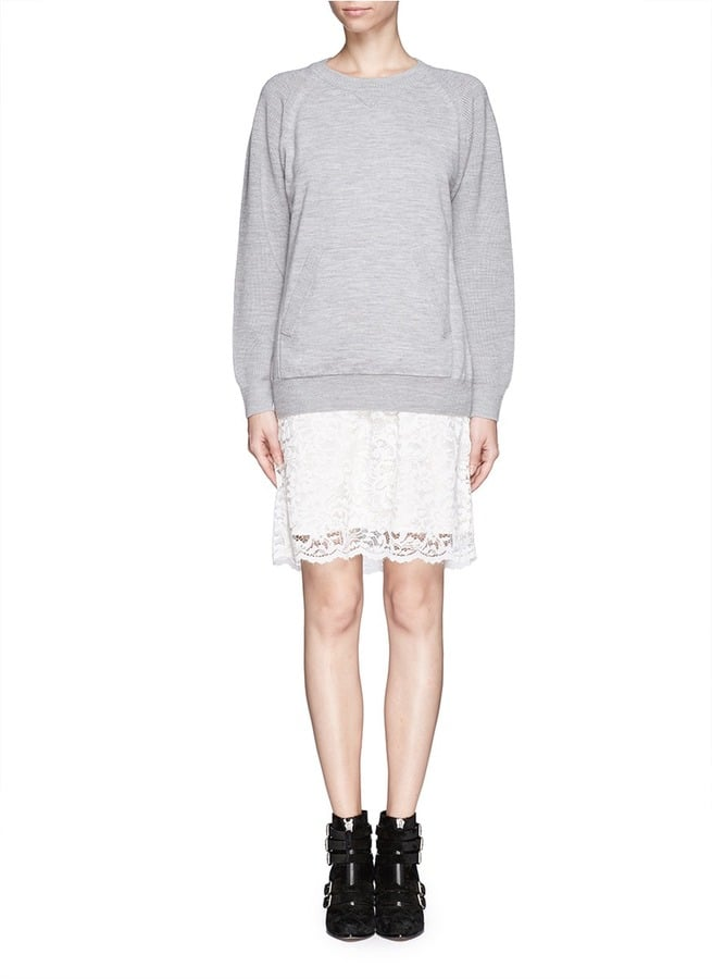 The Mixed-Material Sweater Dress