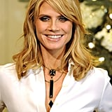 Heidi Klum wore jewelry from her Wildlife collection for QVC.