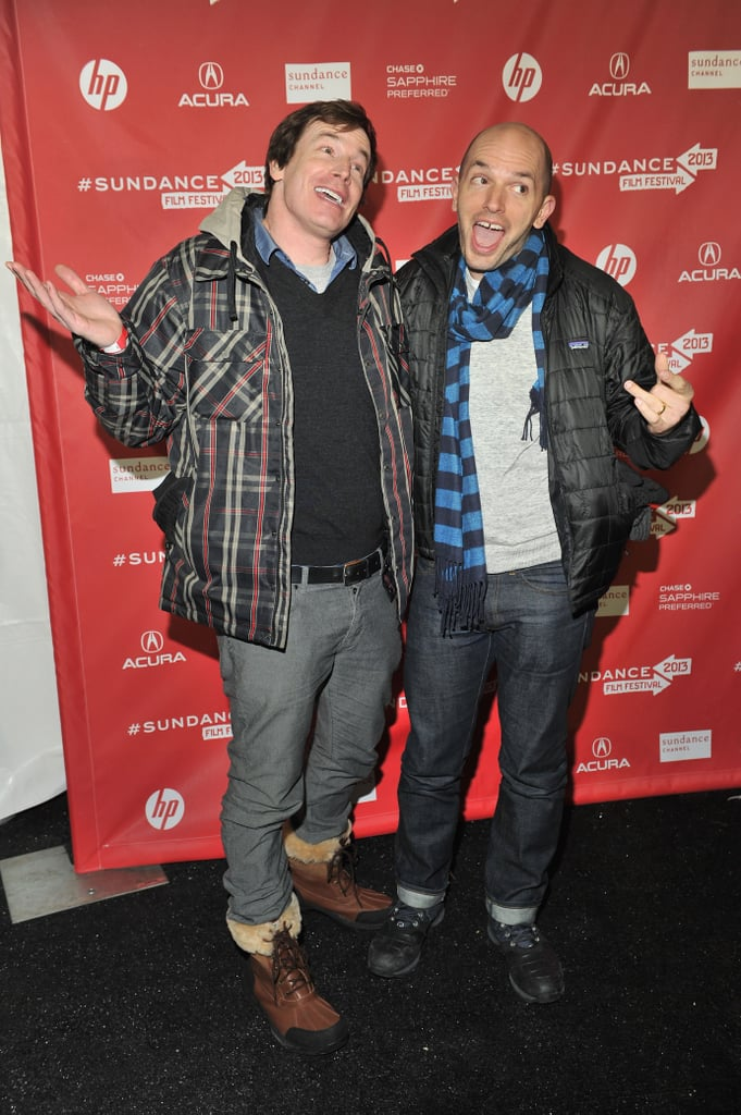 Rob Huebel and Paul Scheer made funny faces for the cameras at the premiere of Hell Baby on Sunday at the 2013 Sundance Film Festival.