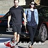 Anne Hathaway and Adam Shulman in LA After Pregnancy News