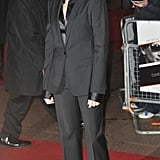 Julia kept things streamlined in a black pantsuit, silk blouse, and gold hoops at the Duplicity UK premiere in 2009.