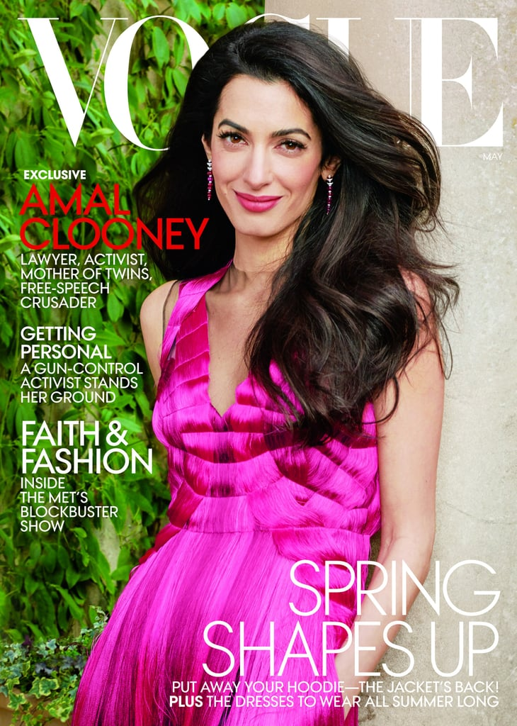 Amal Clooney Wears Coral Lipstick on the Cover of Vogue