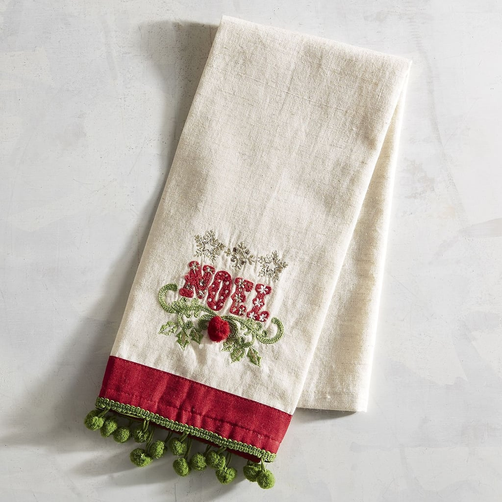 Embroidered Noel Guest Towel ($10, originally $13)