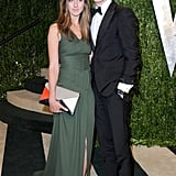 Eddie Redmayne and girlfriend Hannah Bagshawe hit up the Vanity Fair afterparty.