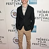 Justin Long had a big smile on his face for the premiere of A Case of You.