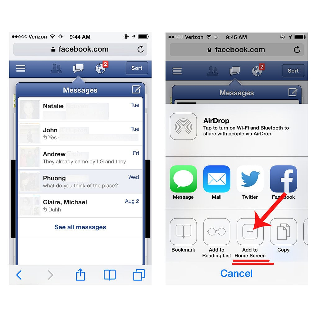 Send Facebook Messages Without Downloading the Separate App