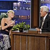 Miley Cyrus wore a bustier on The Tonight Show.