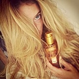 "Doutzen Kroes claimed that this L'Oreal Paris Elvive Extraordinary Oil ""saved"" her hair during the northern Summer. Source: Instagram user Doutzenkroes1"