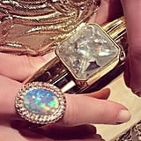 Kate shared a close-up of her amazing Susan Foster ring and Judith Leiber clutch.
