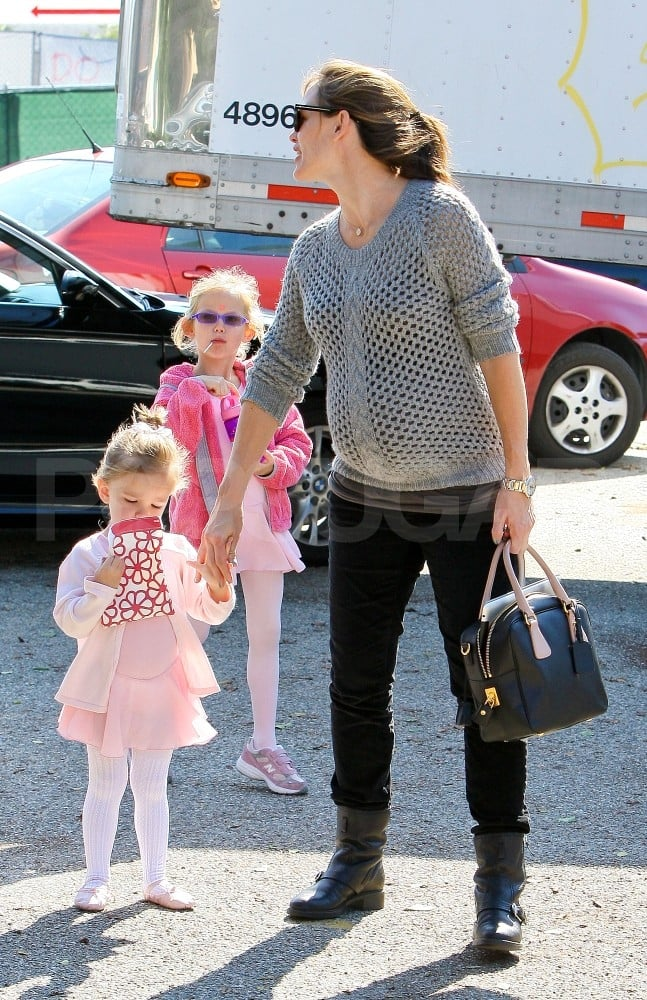 Jennifer Garner out in LA with her little ones Violet and Seraphina.