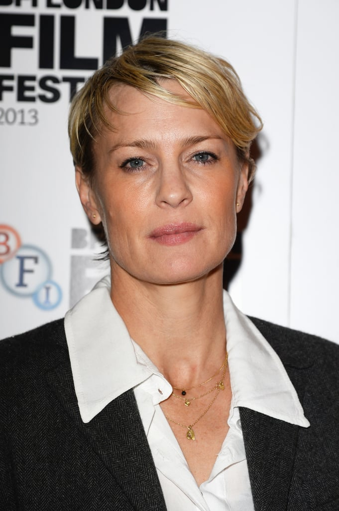 Robin Wright wore her pixie with a tousled texture for the screening of The Congress.