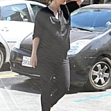 Pregnant Drew Barrymore wore all black to lunch.