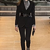 Cinch Your Standard Suit With a Patent Belt, Layer a Turtleneck, and Complete With Flashy Footwear