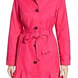 Kate Spade New York Millbrook Twill Water Resistant Rain Coat