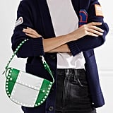 Valentino The Rockstud Two-Tone Leather Shoulder Bag