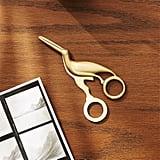 Solid Brass Studio Bird Scissors ($15)