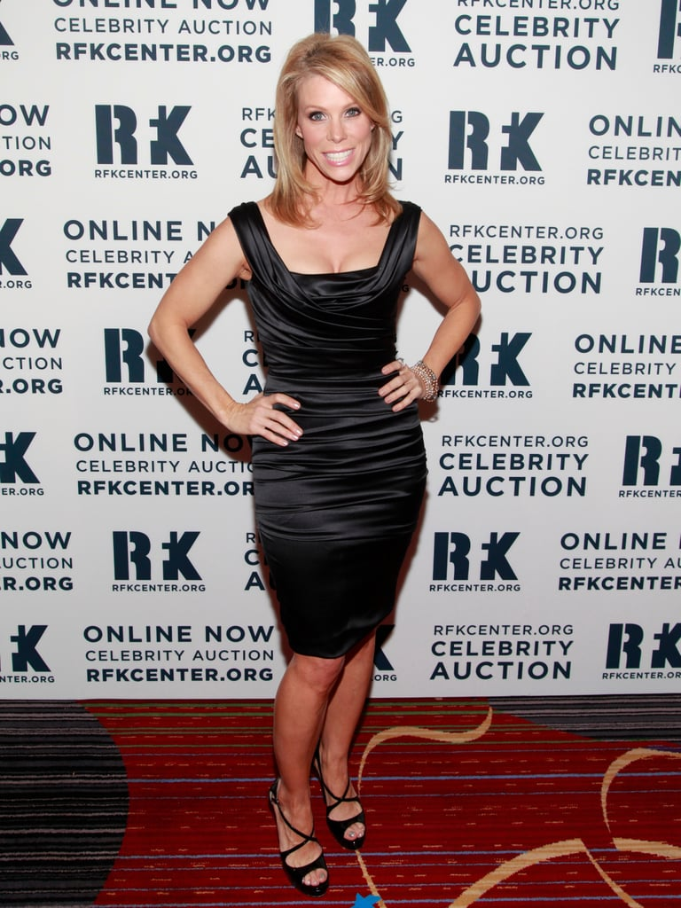 Cheryl Hines wore a black dress at the Ripple of Hope Gala in NYC.