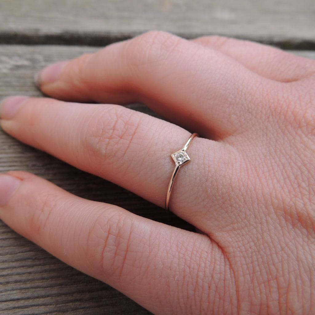 Rose Gold & White Sapphire Ring: $65 | Engagement Rings Under $100 ...