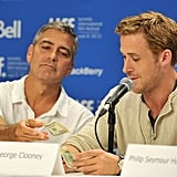George Clooney threw $50 in Ryan's direction after Gosling complimented the director.