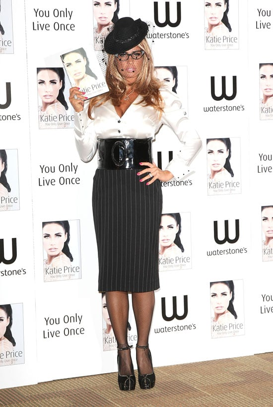 Pictures of Katie Price in Sexy Secretary Look For Fourth Autobiography Book Launch You Only Live Once in London