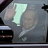 Prince Philip Leaving Hospital After Hip Replacement Surgery