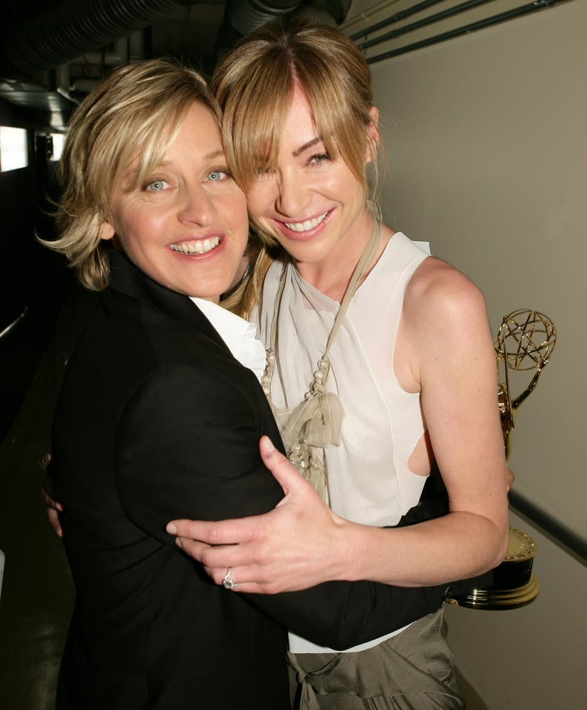 """Ellen DeGeneres and Portia de Rossi clearly know the secret to a long-lasting relationship. With more than 10 years together, the pair have a collection of sweet moments under their belt, including their adorable red carpet appearances and romantic getaways. While the couple tied the knot in August 2008, Portia admits that she knew Ellen was the one """"when I first laid eyes on her, but it took me three years to actually tell her how I felt about her."""" Even so, the television host has said that she plans on being with Portia """"until the day I die."""" Read through for a look at the sweetest things Ellen and Portia have said about each other."""
