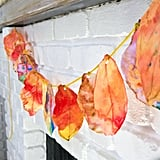 Coffee Filter Fall Leaf Garland