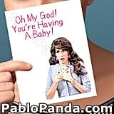 Friends Janice Baby Card