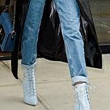Gigi Hadid Traded Rihanna's Manolo Blahnik Heels For the Most Simple Shoe