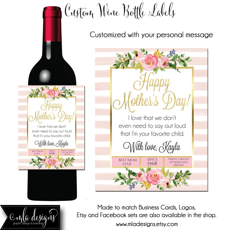 Custom Mother's Day Wine Label