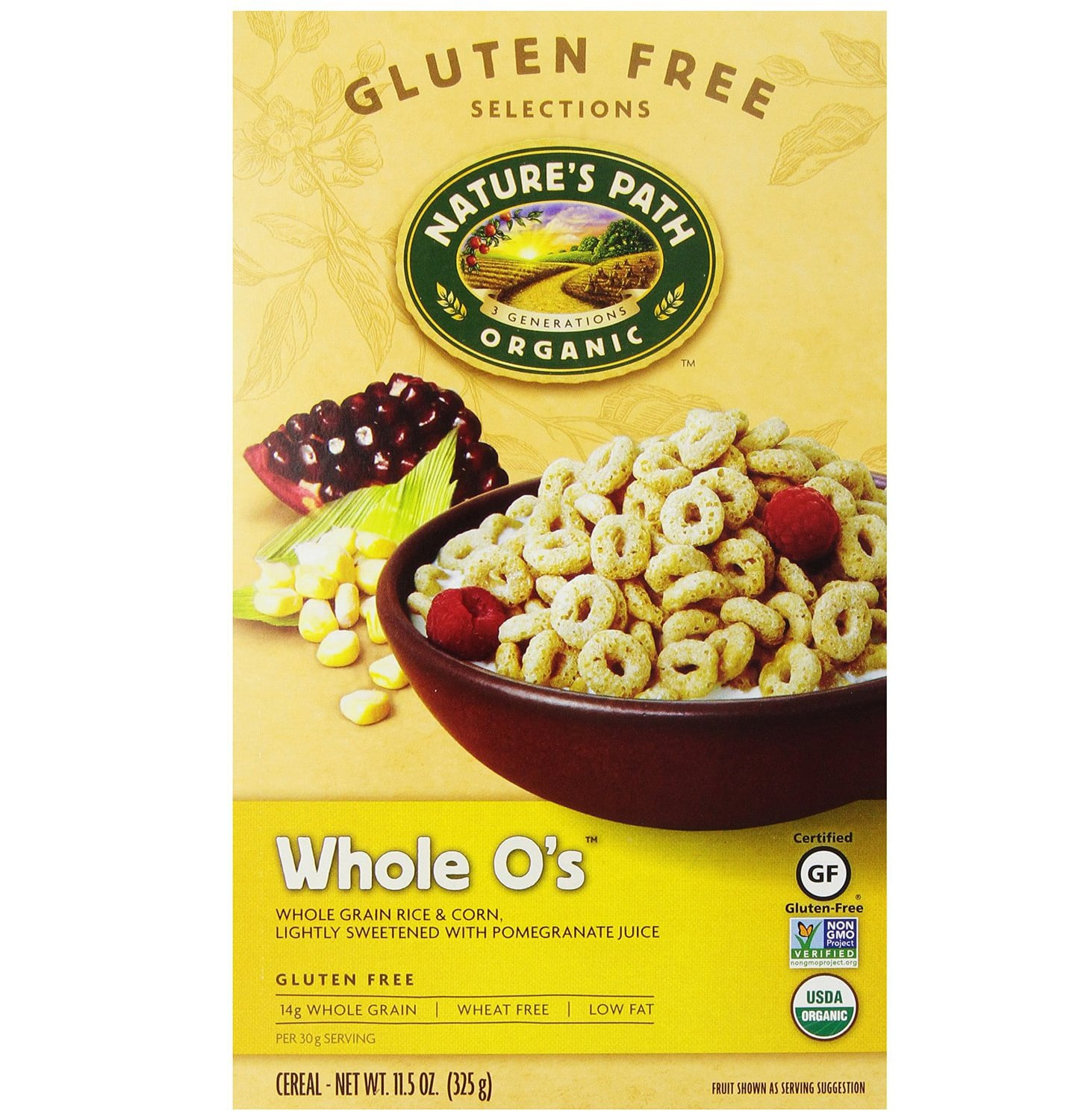 Nature S Path Organic Whole O S Gluten Free Cereal Ingredients