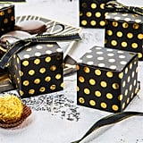 Black and Gold Dotted Gift Boxes