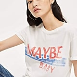 Topshop 'Maybe Baby' Slogan T-Shirt