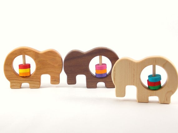 Bannor Toys Wooden Elephant Rattle ($15)