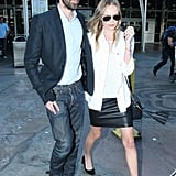 Kate Bosworth and Michael Polish kept close while walking through Sydney Airport.