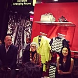 Vera Wang and Iris Apfel made up quite the panel at the Topshop Talk.