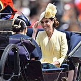 June: Kate attended Trooping the Colour with the rest of the royal family.