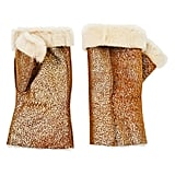 Justin Gregory Shearling Fingerless Gloves