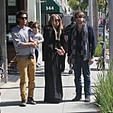Rachel Zoe shopped in Beverly Hills with her family.