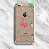 Clear Flamingo iPhone Case ($23)