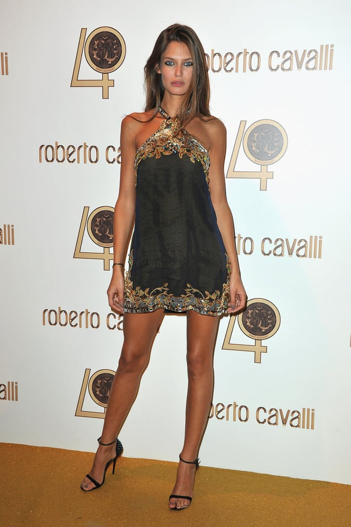 Bianca Balti steps out in a sequin, embellished mini — stunning!